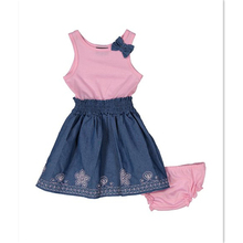 PINK FLORAL a- line dress & bloomer set - infnat toddler & girls baby girl boutique clothing