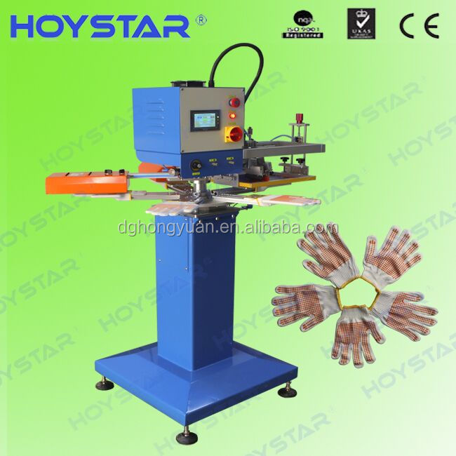 safety supply gloves screen printing machine with ir drying system