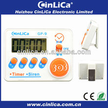cheap LCD siren&timer, mini digital kitchen siren&timer,electronic kitchen timer with magnet