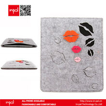 Awesome well-stitched soft touch custom polyester felt for ipad 1/2/3/4 sleeve with pocket