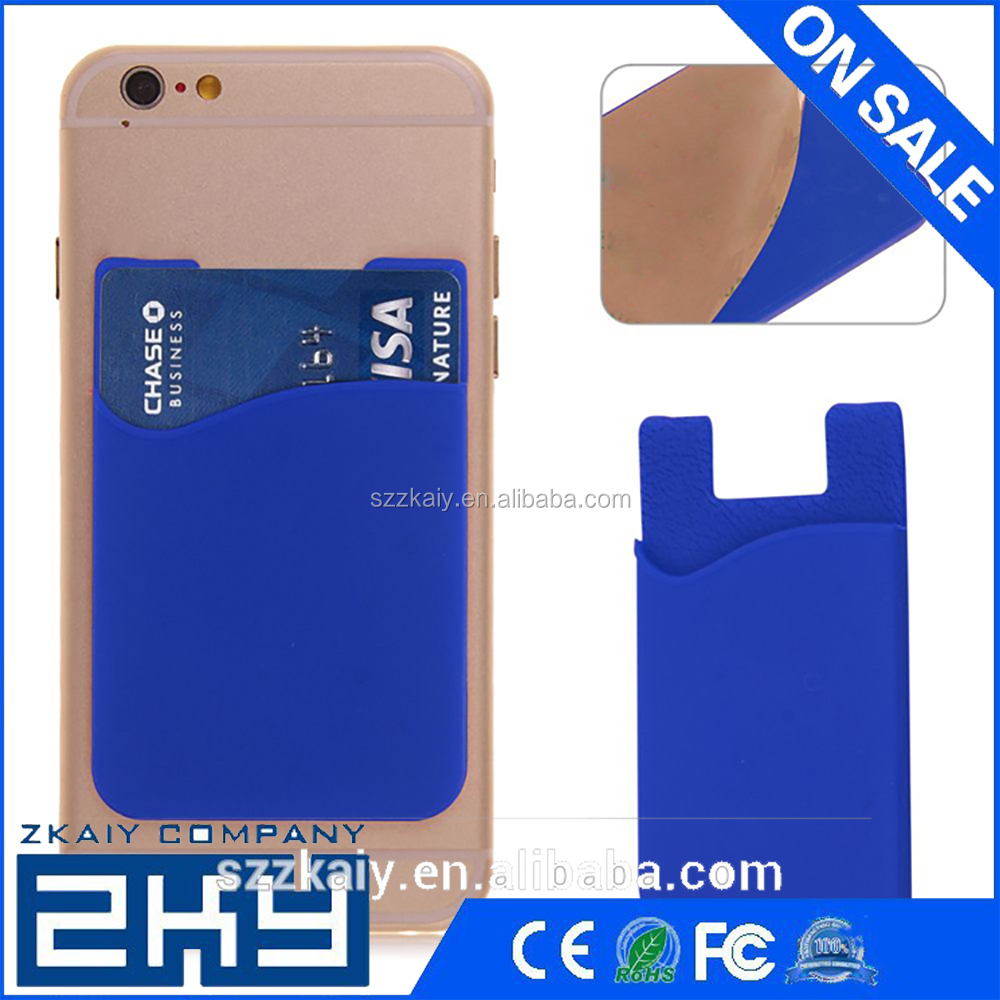 Universal Protective Silicone Phone Smart Wallet Silicone Card Holder For Mobile Phone