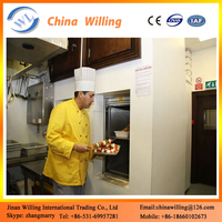 Restaurant Food Service Lift/ Dumbwaiter Freight Lift/double door cabinet food elevator