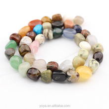 SB6672 Multicolor natural gemstone nugget tumbled beads stone pebble beads