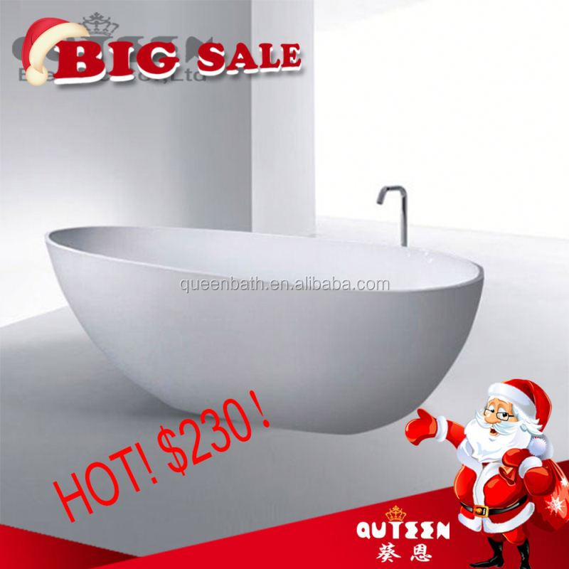 Sales promotion!Queen-bath JR-B821 high quality cheap acrylic bathtub drain waste