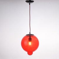modern hand blown spherical colored glass Meltdown pendant light
