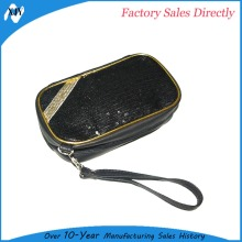 Factory cheap customized makeup bags leather bulk cosmetic bag
