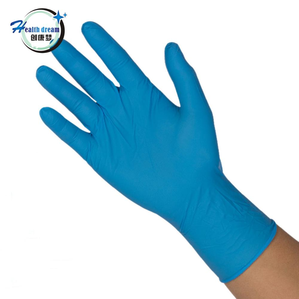 9inch cheap and good disposable nitrile gloves with high tension for medical gloves single use gloves