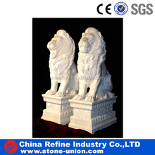 granite and marble stone lion statue