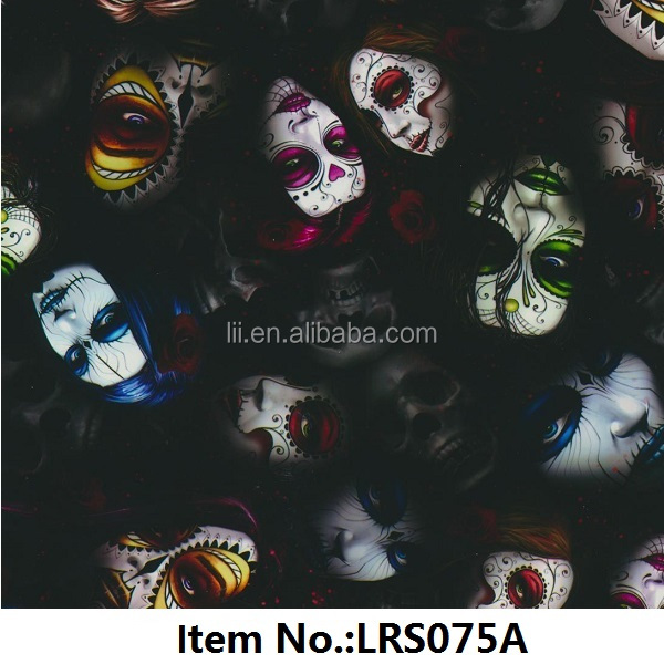 New coming SKULL pattern, PVA Water Transfer Printing Film, item No.LRS092A