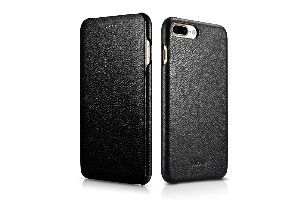 Genuine Leather Case,XOOMZ Genuine Leather Flip Litchi Line Folio Opening Cover, Curved Edge Design For iPhone 7/7 Plus PX-016
