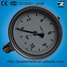 10bar 100mm bottom connection standarded laser welding pressure gauge