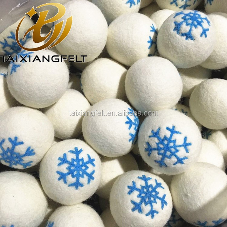 pure Organic 2017 Amazon bestseller New zealand little sheep wool products xl wool Dryer Balls 6 pack cotton bag factory
