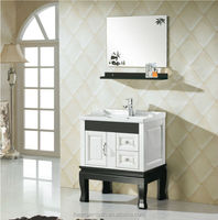 HM-014(ABS)Wall Mounted Rustic Bathroom Cabinet With Basin