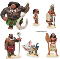 Plastic Princess Moana Doll Action Figure Toy Cartoon Movie Model Toys For Children Anime Brinquedos Girl Gift