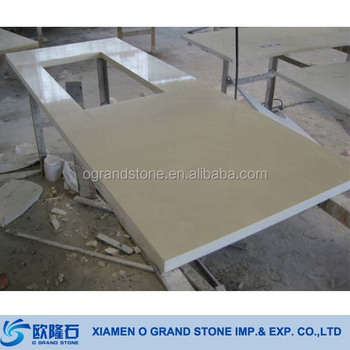 Synthetic kitchen prefab quartz countertops beige man made for Manufactured quartz countertops cost