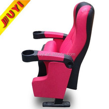 JY-625S JUYI Factory Supply CE Verified Reasonable Price Leather Cover Steel Leg Tip Up Cup Holder Plastic and Metal Chair Price