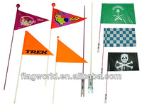 PE bike flag, bicycle flag for promotion, tourist, advertising