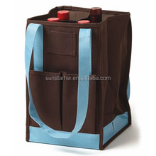 Practical oxford fabric 4 bottles wine tote bag