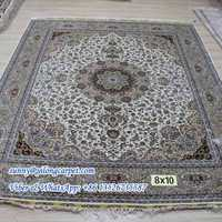 8x10ft silk persian home hand knotted modern rug