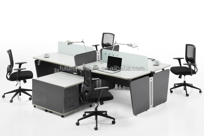 2014 modern and cheap office partition for europe market for Bureau marguerite 4 personnes