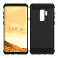 alpha design brushed metal alpha design air cushion shock proof tpu soft case for Samsung S9 plus mibole phone back cover