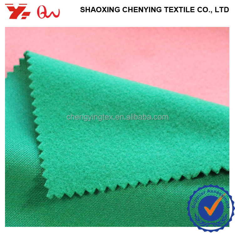 100% polyester knit brushed fabric used clothing / hot sale brushed fabric form keqiao direct factory
