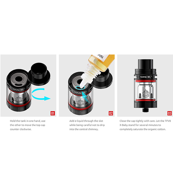 New Coming SMOK TFV 8 X-Baby 4ml/ 2ml TFV8 X Baby