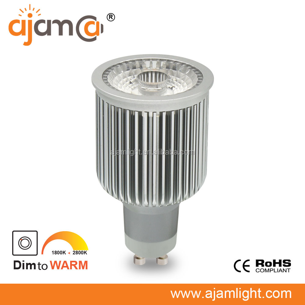 Aluminum silvery GU10 dim to warm ra95 9w led replacement spotlight bulbs