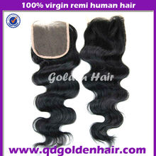 6a grade full lace Brazilian virgin hair 4*4 lace top closure body wave in stock