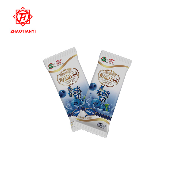 custom printed plastic bag ice popsicle packaging