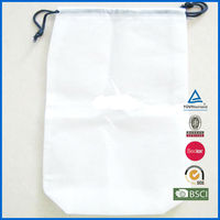 hot sale custom size print non woven drawstring shoe bag