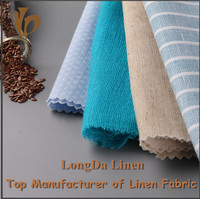100% linen and linen blends fabric for shirt and textile