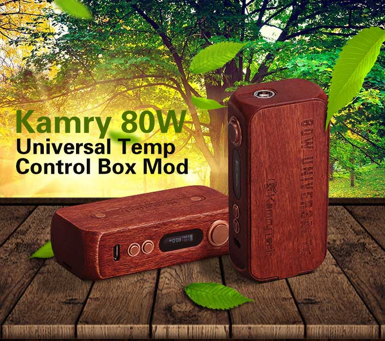 New e cig mod vape 80w tc wood vaporizer wholesale
