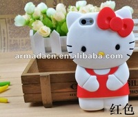Loverly and Cute Soft 3D Hello Kitty Silicone Skin Cover For iPhone 5!
