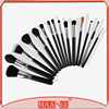 High quality 15pcs black makeup kit best selling face makeup brush set