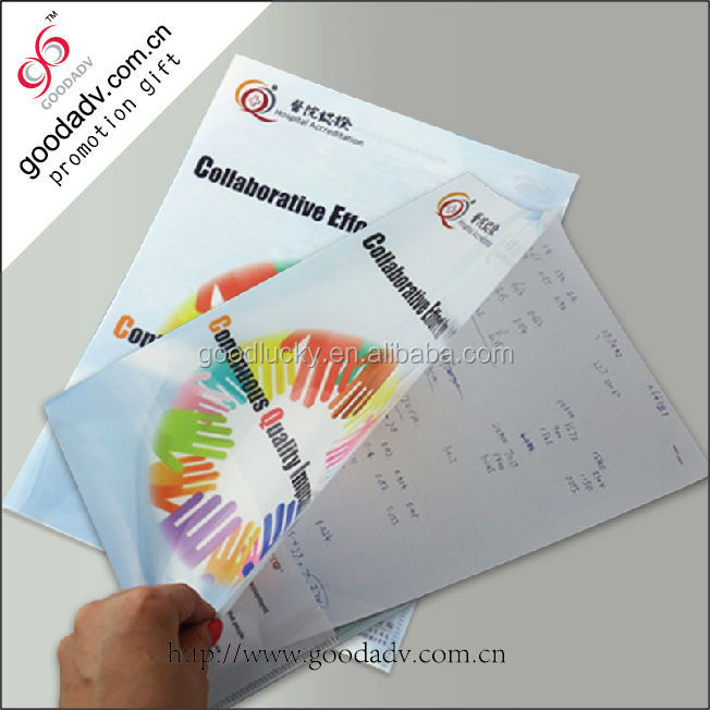Factory price pp material eco-friendly clear holder file a4