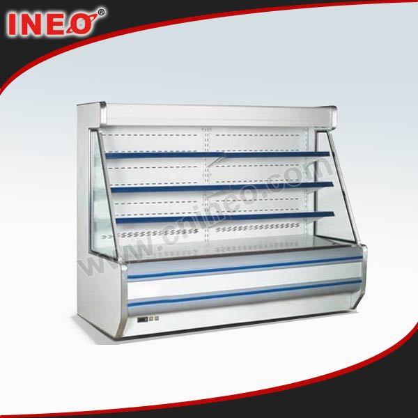 Supermarket upright vegetable cooler/food display cooler/flower display cooler