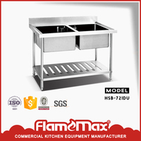 high quality outdoor stainless steel double sink
