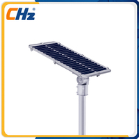 Factory price durable aluminum high luminous integrated solar street lights in led street lights