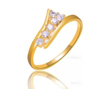 wholesale cheap platinum plated gold filled cubic zirconia rings