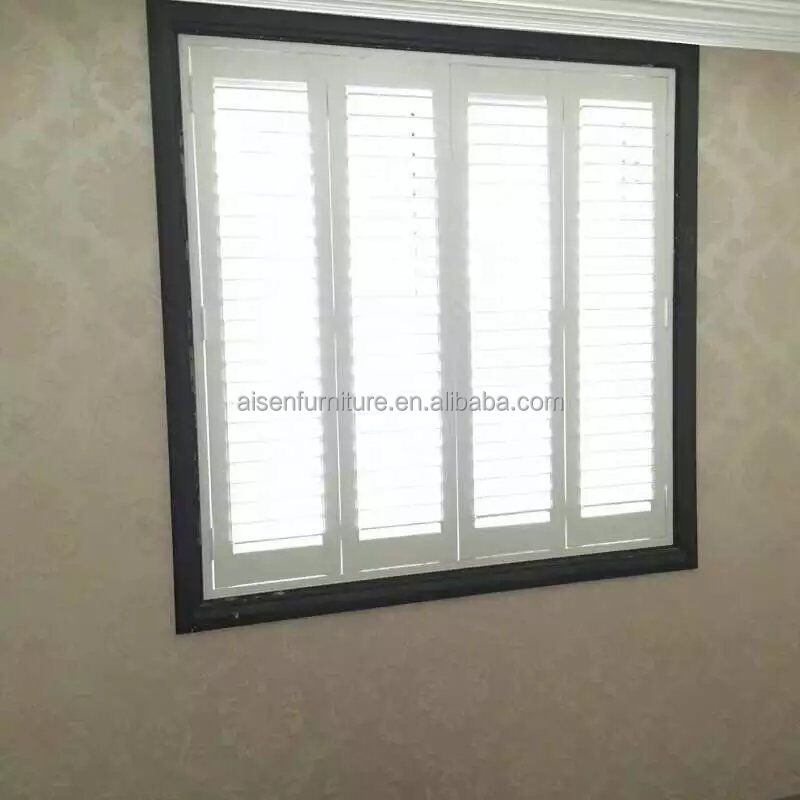 Vinyl Plantation Shutter Profiles Plastic Louver Window Shutter Parts from China Supplier