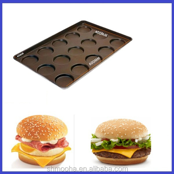 non stick hamburger baking tray/hamburger trays/hamburger bun baking pan(custom according to your request)