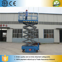 Telescoping lift hydraulic home lift small self propelled scissor lift