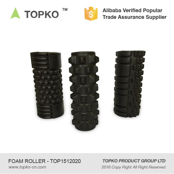 China Supplier New Product Fitness High Density Muscle Massage Black EVA Foam Roller