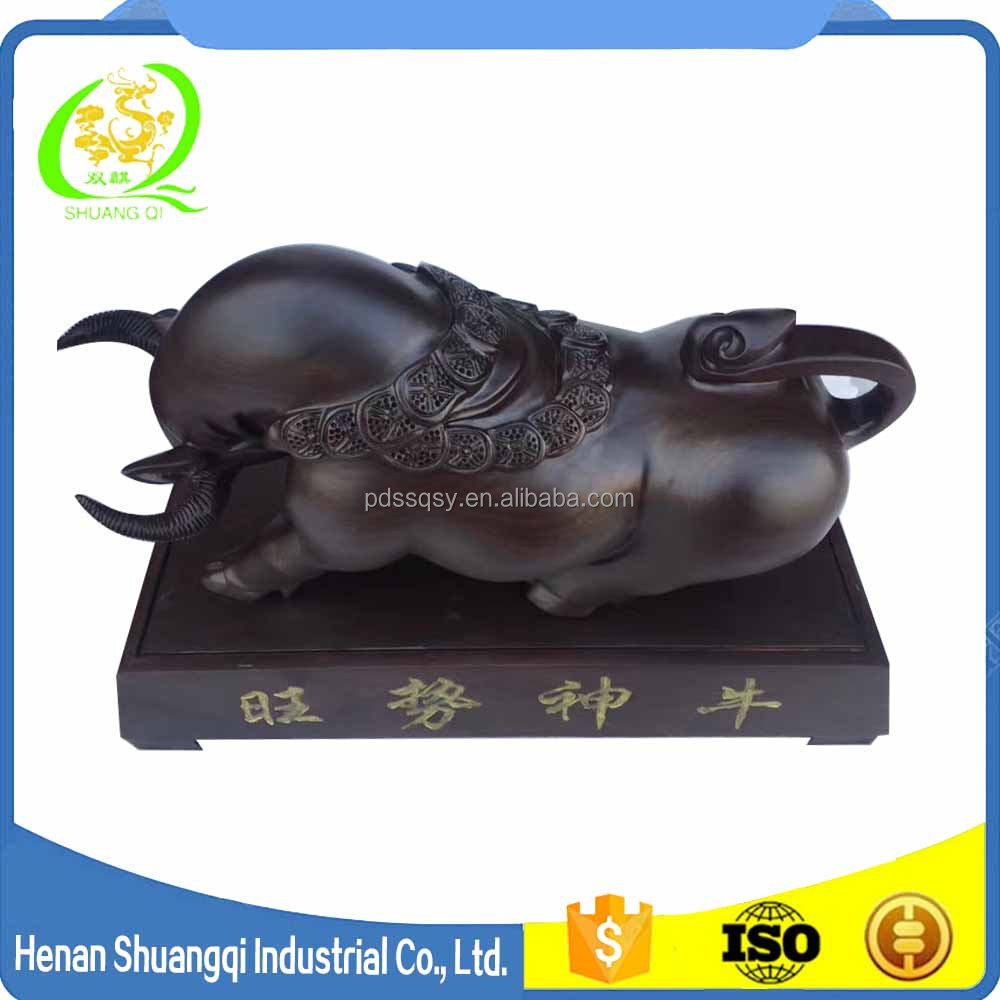 2017 hot sale products for business wood craft animal bull carving wood statue