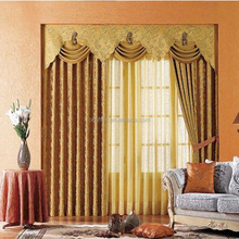 Hot sell dinning room curtain chain link curtain with lace lining