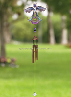 Metal And Glass Angle Wind Chime For Your Garden Or Porch