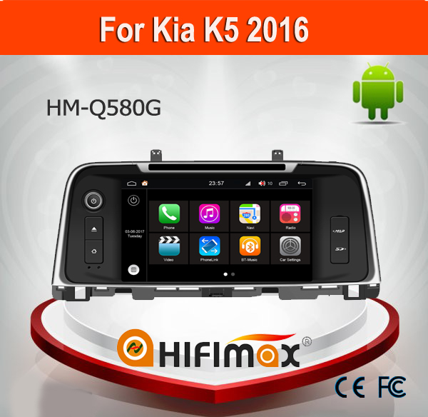 Hifimax Andriod 7.1 Car DVD GPS For KIA K5 2016 WITH Quad Core 1080P WIFI 3G INTERNET DVR SUPPORT