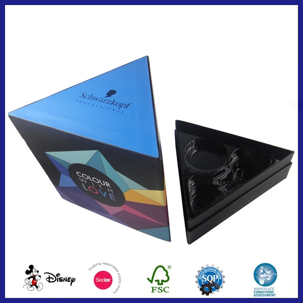 Hotsale Printing Cardboard Personal Triangle Shape Packaging gift Boxes