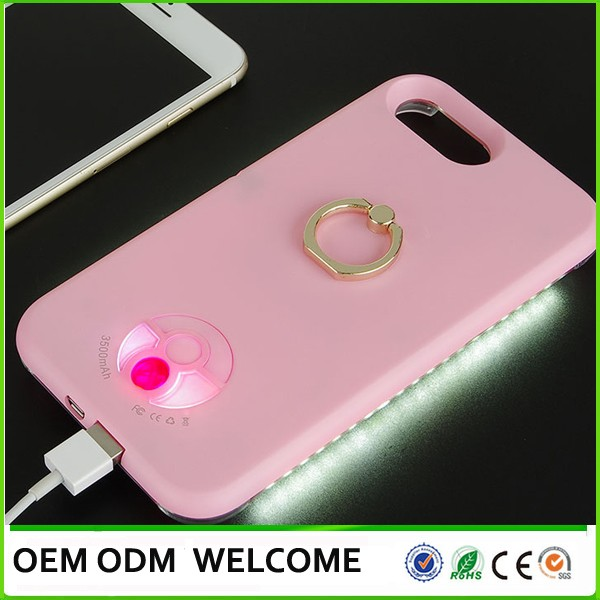 LED Light up Illuminated Selfie Case or Cover for smartphone